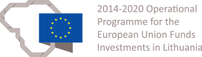 2014-2020 Operational programme for the EU funds investments in Lithuania logo