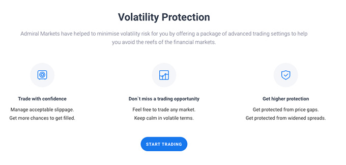 Admiral Markets review: volatility protection.