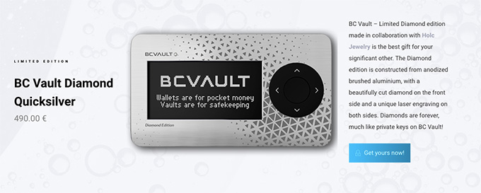BC Vault review: Diamond Quicksilver version of the wallet.