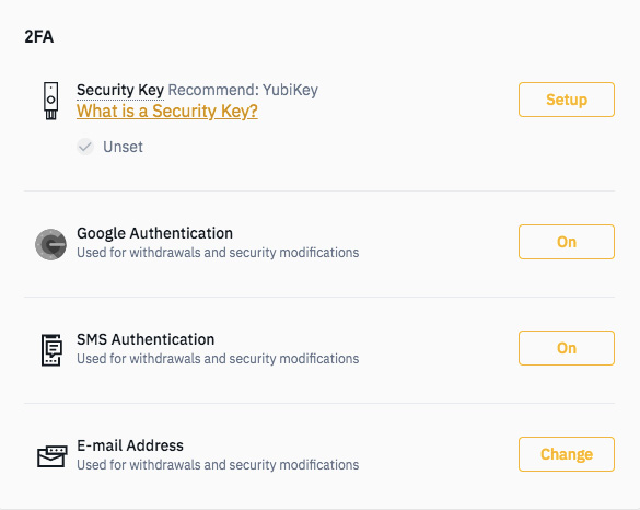Binance wallet review: security features.