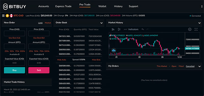 Bitbuy review: Pro trader.