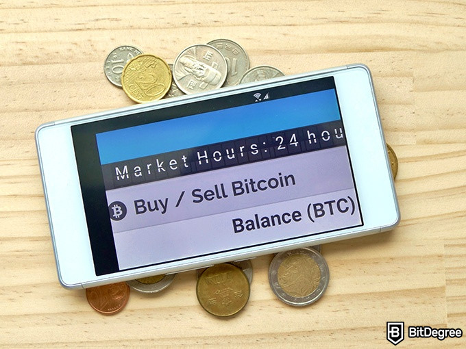 bitFlyer review: balance in BTC.