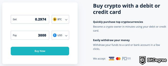 CEX.io review: buying crypto.