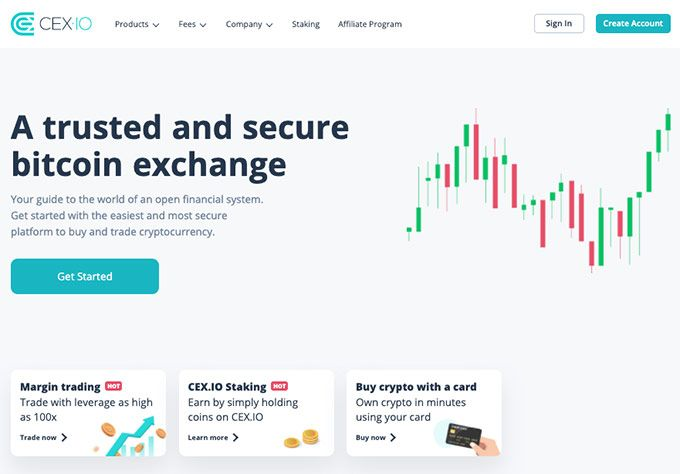 Come acquistare Ripple: homepage di Cex.