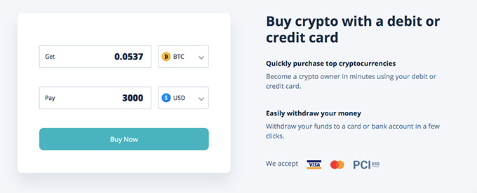 Cex wallet review: buy crypto with a debit or credit card.