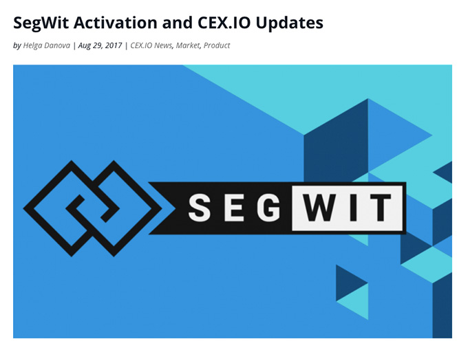 Cex wallet review: SegWit address support.