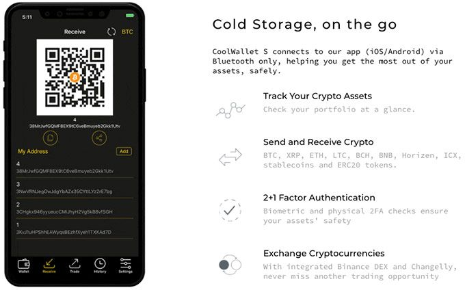 CoolWallet S review: features.