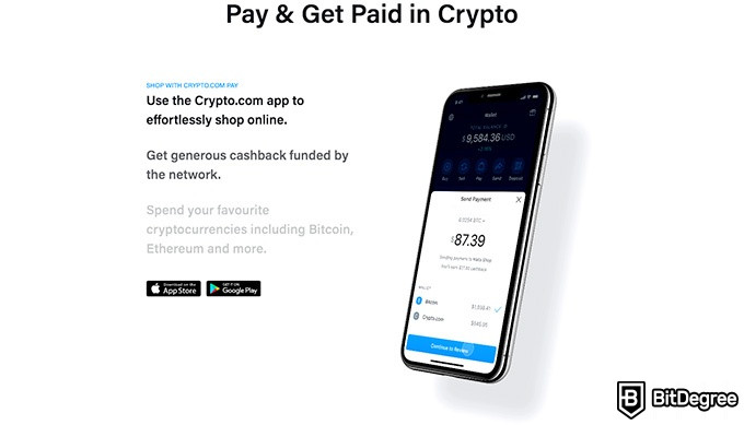 Crypto.com review: pay and get paid in crypto.