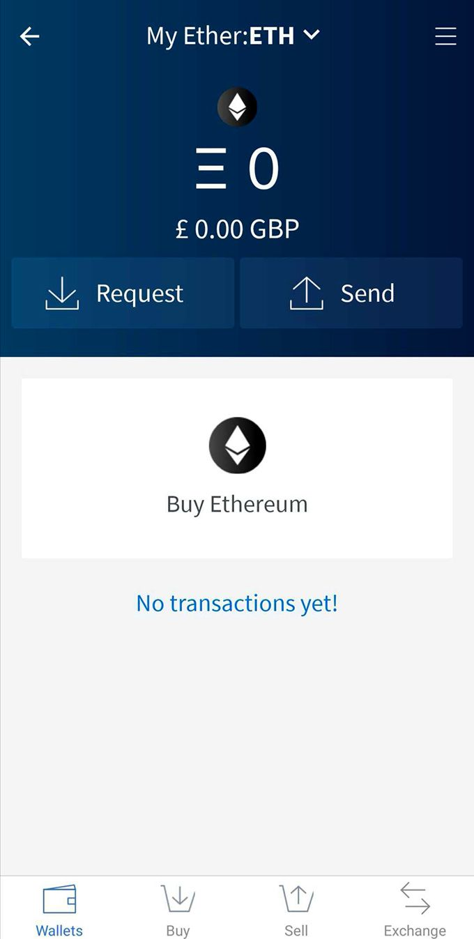 Edge wallet review: requesting Ether to your Ethereum wallet.
