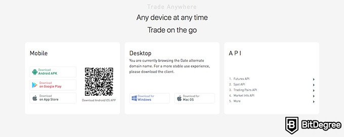 Gate.io exchange review: trade on the go.