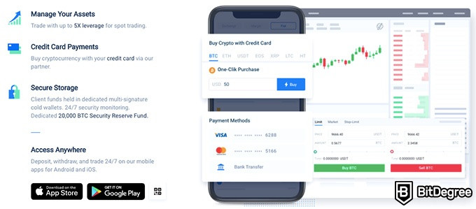 Huobi exchange review: manage your payments.