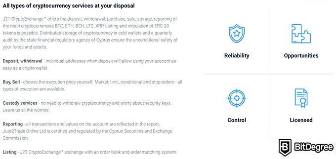 Just2Trade review: all types of cryptocurrency at your disposal.