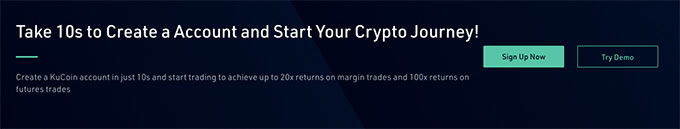 KuCoin wallet review: create an account in 10 seconds.