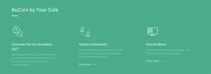 KuCoin wallet review: customer support.