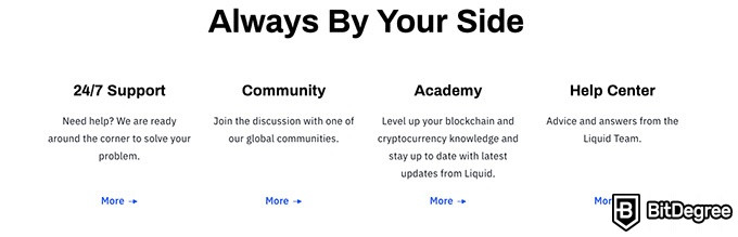 Liquid review: features of the exchange.
