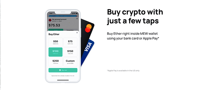 MyEtherWallet review: MEW app.