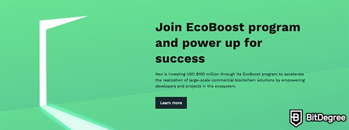 NEO coin: the EcoBoost program.
