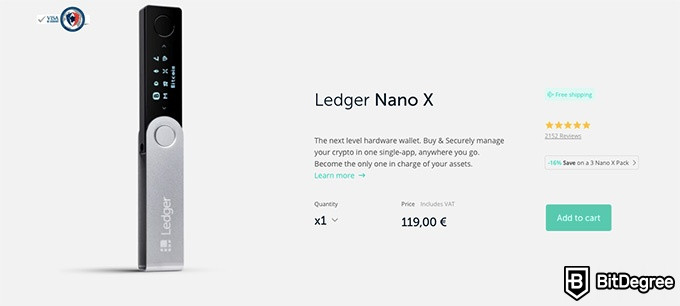 NEO coin: the Ledger Nano X.
