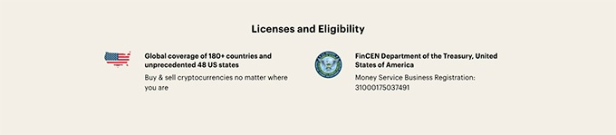 Paybis review: licenses.