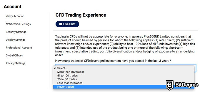 Plus500 review: CFD training experience.