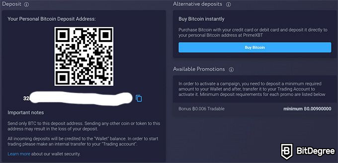Prime XBT review: your Bitcoin wallet.