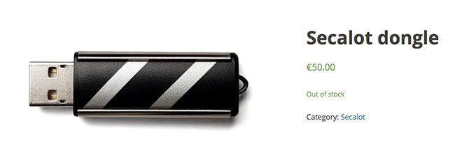 Secalot review: the Secalot Dongle wallet.