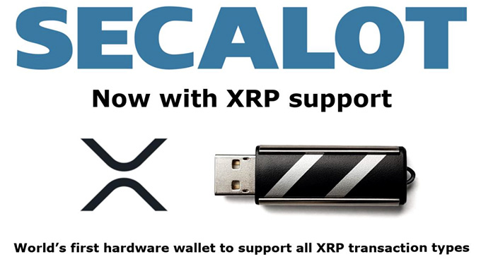 Secalot review: XRP support.