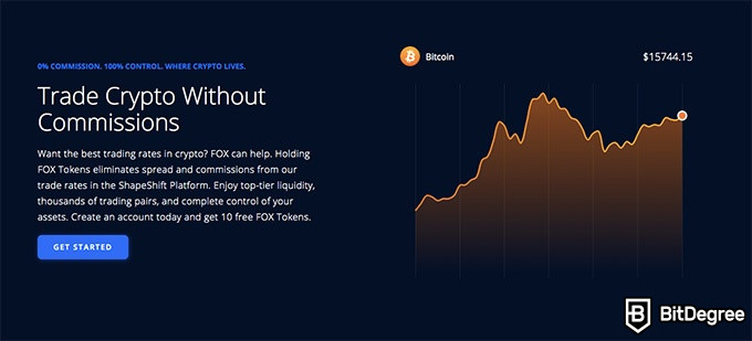 ShapeShift exchange review: trade crypto without commision.