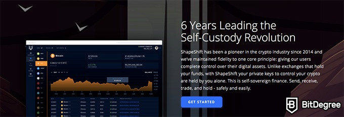ShapeShift exchange review: 6 years of being active.