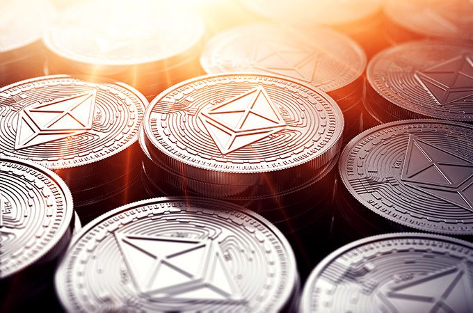 What is Ethereum: stack of Ether coins.
