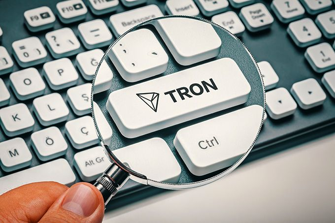 What is Tron Coin: the Tron key on a keyboard.