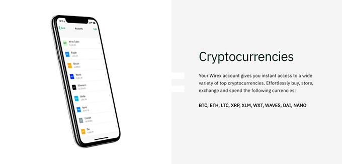 Wirex review: cryptocurrency support.