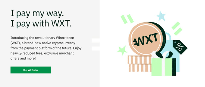 Wirex review: pay with WXT.
