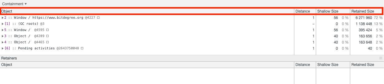 Chrome Memory Tab
