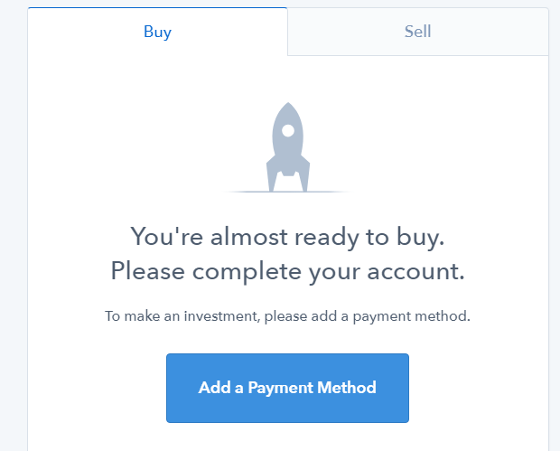 How to add a payment method on Coinbase