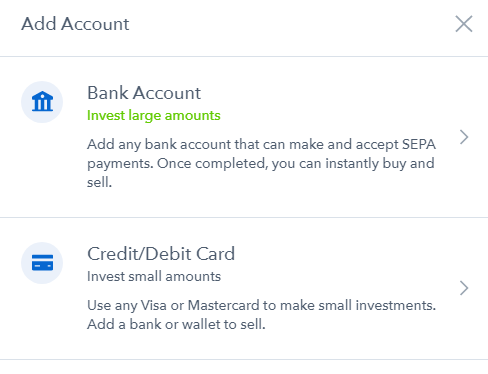 How to add account on Coinbase