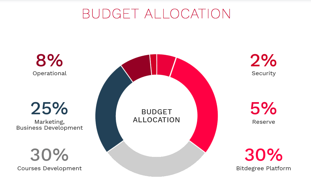 What is an ICO Bitdegree Budget Allocation