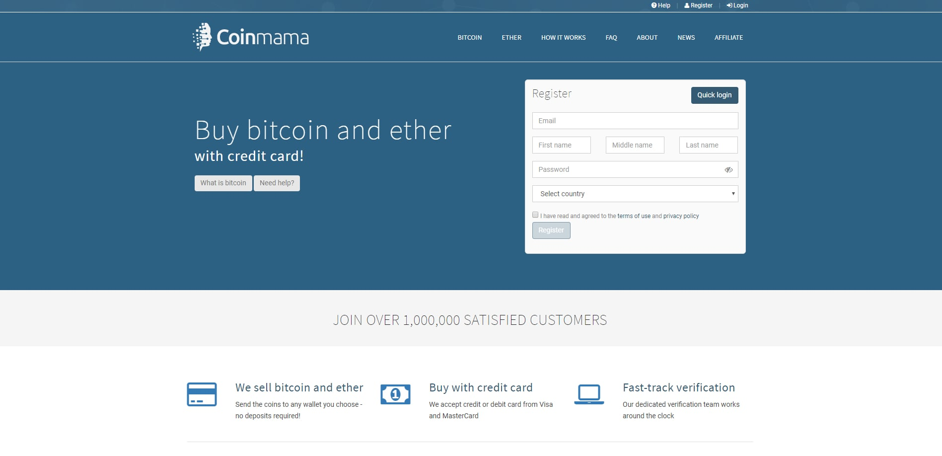 Cryptocurrency Exchange on Coinmama