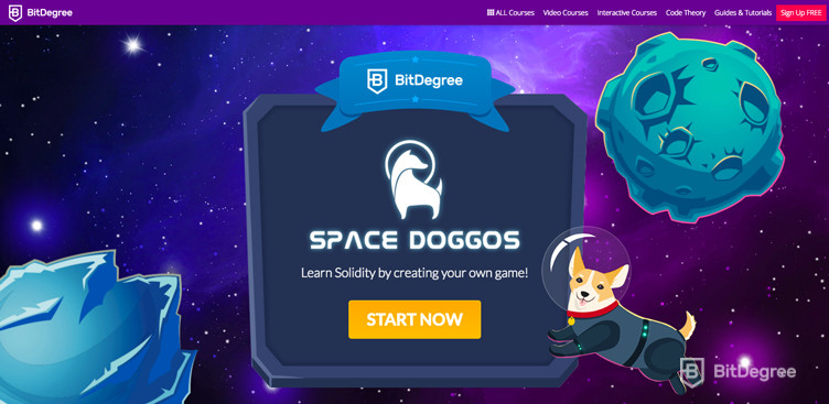 Decentralized Applications BitDegree Space Doggos