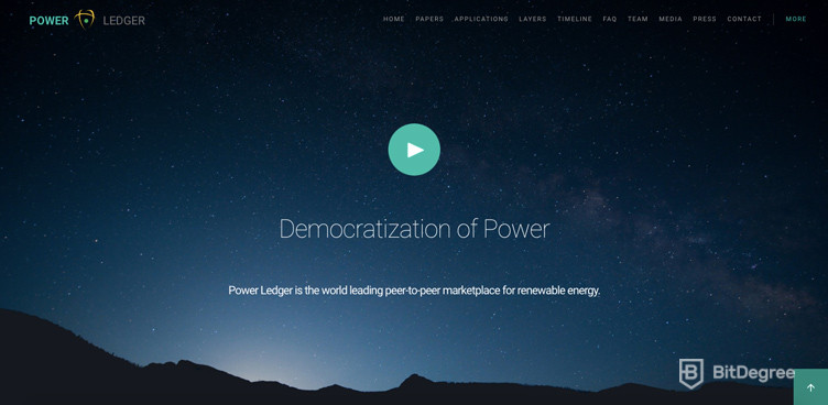 Decentralized Applications Power Ledger