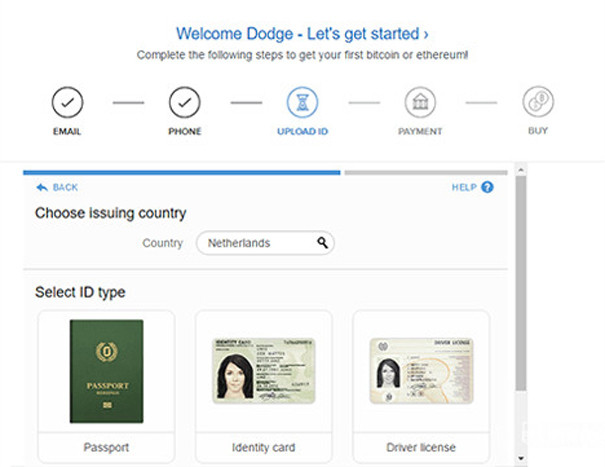 Uploading ID pictures on Coinbase