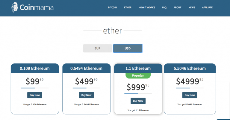 how to buy ethereum with credit card - Coinmama ether