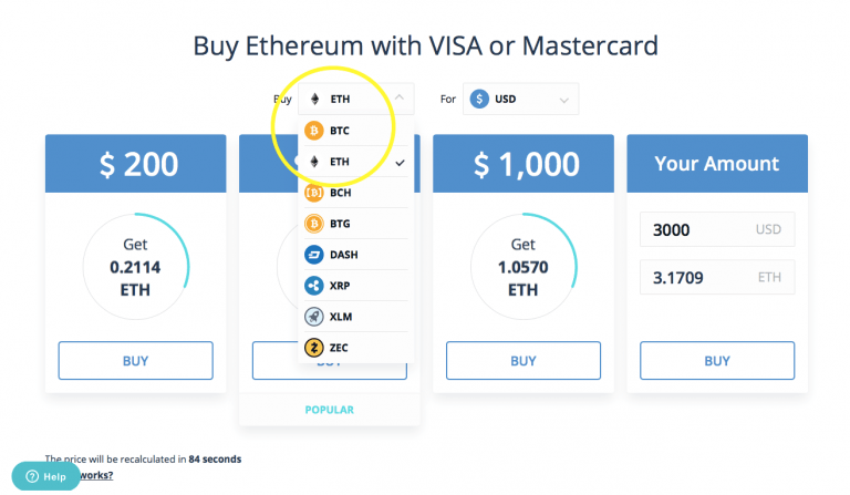 how to buy ethereum with credit card