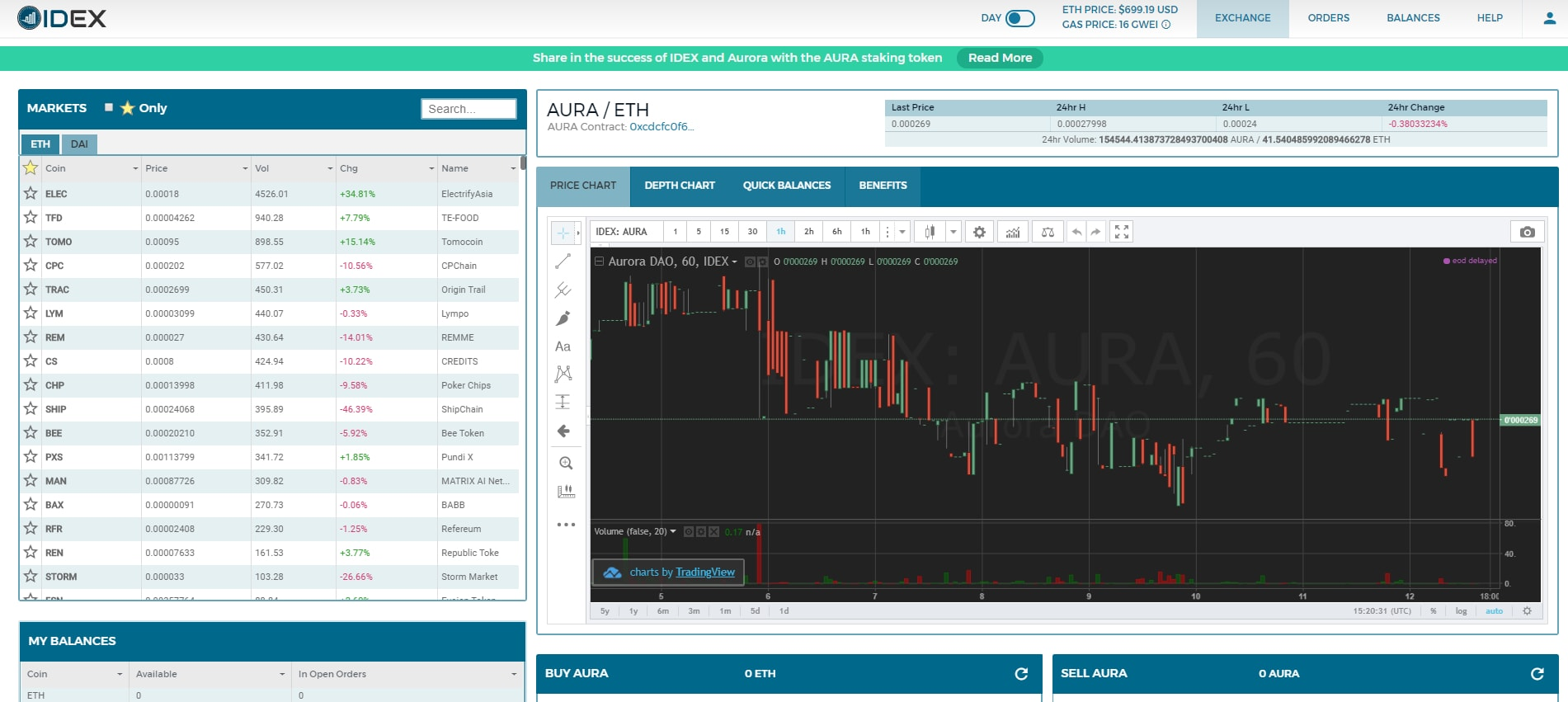 Cryptocurrency Exchange on IDEX