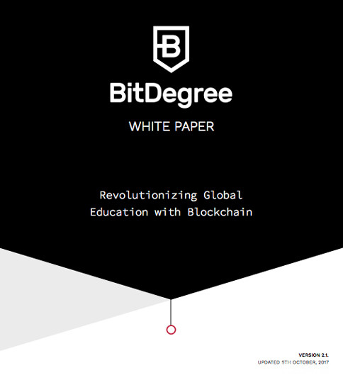 What is an ICO Bitdegree White Paper