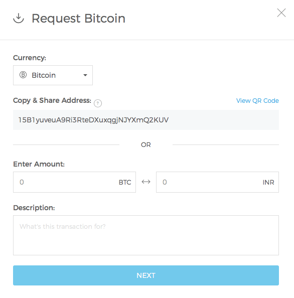 Requesting bitcoin on wallet