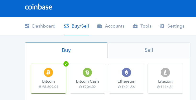 Coinbase Bitcoin buying