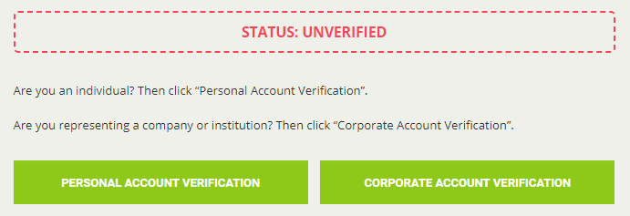 Verification on Bitstamp
