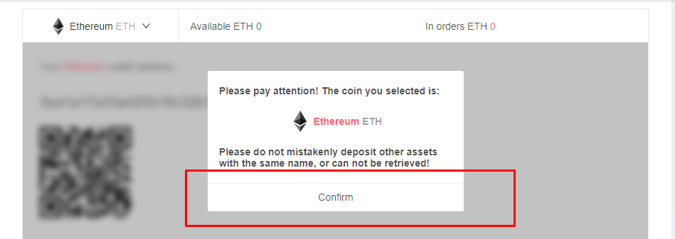 Ethereum purchase confirmation