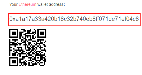 Ethereum wallet address